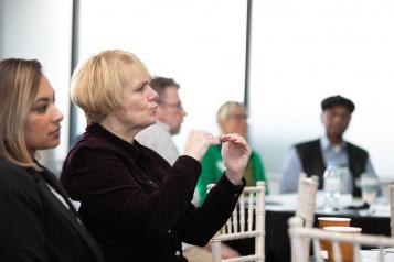 A BSL interpreter at an event