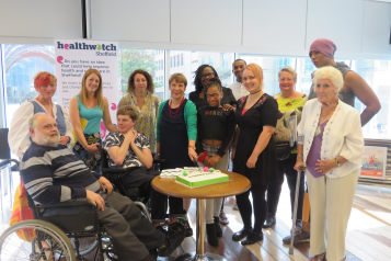 A group photo of volunteers at one of our last in-person events