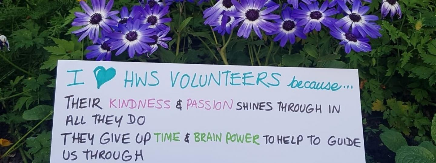 """I love volunteers because their kindness and passion shines through in all they do, they give up time and brain power to help"""