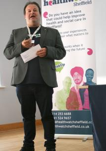 Mark at Annual Report launch